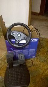 T80 Race Wheel with pedals- Playstation (gently used), in Columbus, Georgia