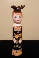 """Porcelain Doll"" Candle Holder/Vase from Williamsburg, VA General Store in Tampa, Florida"