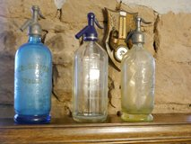 3 different colour soda bottles ( blue,green/yellow and white ) in Baumholder, GE