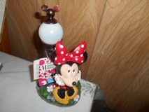 "New Disney MINNIE MOUSE Solar Powered Garden Statue!  10"" tall  MINT with Tags in Bellaire, Texas"