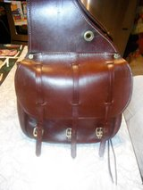 Leather Saddle Bags - made by =  TRIPLE K >>> VGC in Morris, Illinois