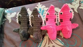 Shark Baby Booties, Toddler/Child/Teen/Adult Slippers, Handmade Crocheted in Leesville, Louisiana