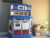 Kitchen set with fake food in Bolingbrook, Illinois