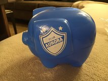 Blue Piggy Bank in Joliet, Illinois