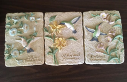 Set of 3 Ceramic Hummingbird Plaques in Columbus, Georgia