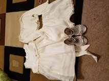 Four piece flower girl outfit 18 months, shoes 5M in Fort Leonard Wood, Missouri