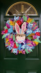 Mesh Bunny Easter or Spring Wreath in Naperville, Illinois
