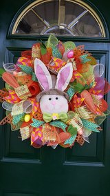 Bunny Wreath Perfect for Easter or Spring in Naperville, Illinois