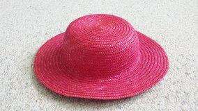 Fuschia Pink Straw Hat Sz 4-6x in Chicago, Illinois