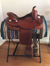Montana western saddle with silver trimmings. 16 inch seat. in Ramstein, Germany