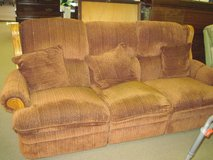 Brown recling couch in Camp Lejeune, North Carolina