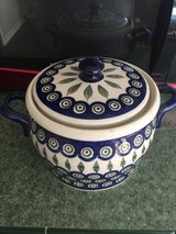 Polish pottery bean pot in Fort Bragg, North Carolina