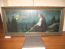 """Large religious print and frame (52""""x25"""") Mount Olive by Giovanni in Glendale Heights, Illinois"""