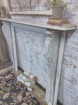 Architectural salvage mantle in Elgin, Illinois