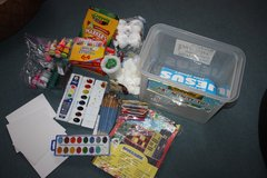 Lots of paint/crayons and arts and crafts in Ramstein, Germany
