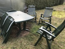 Garden chairs and table in Ramstein, Germany