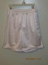Unisex Athletic White Shorts - Size Youth Large in Bolingbrook, Illinois
