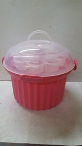 Fox Run Cupcake Carousel Holder- Brown- 3 Removable 8 cup trays in Cleveland, Texas