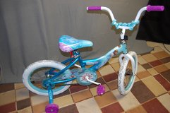"Like new. 16"" Disney Frozen bike with training wheels in Chicago, Illinois"