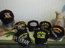 Military Hats- Iraq, Gulf War, Vietnam, Korea, WWII- New in 29 Palms, California