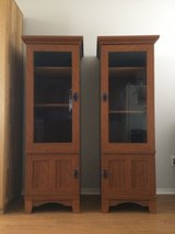 2 Tall Cabinets with glass doors in El Paso, Texas