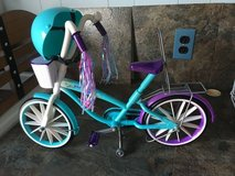"18"" doll bicycle and helmet in Camp Lejeune, North Carolina"