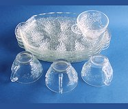VINTAGE ANCHOR HOCKING SERVA-SNACK SET CRYSTAL in Naperville, Illinois