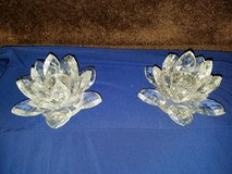 Crystal / Flower / 2 Piece Candle Holder Set in Fort Campbell, Kentucky