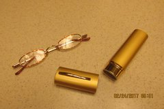 "Ladies New Pair ""Reader's Glasses"" In Trimline Case - +2.50 Magnification in Kingwood, Texas"