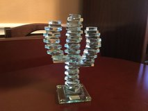 6 1/2 in tall Saguaro Cactus Stacked Art Glass in Kingwood, Texas
