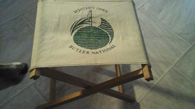 Western  Open Butler National Golf Tournament folding bench / chair in Aurora, Illinois