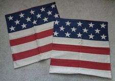 """2 NEW Pottery Barn American Flag 24"""" Pillow cover's in Camp Lejeune, North Carolina"""