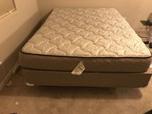 Bed, Queen Sized +box spring and stand in Eglin AFB, Florida