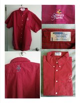 New Grant's Farm Men's Red Plaid Shirt Size Extra Large in St. Louis, Missouri