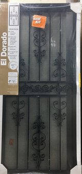 "El Dorado Black Surface Mount Steel Security Door & Screen 36"" x 80"" - New! in Aurora, Illinois"