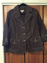 New Coldwater Creek Brown Jacket - Women's Size 18 in Aurora, Illinois