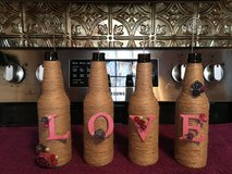 LOVE glass bottle vases/photo stand in Fort Campbell, Kentucky