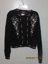 Vintage Beaded Black Lambswool and Angora Sweater by I DID IT by Mathew H. U.S.A. in Lockport, Illinois