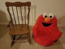Elmo chair and wooden rocking chair in Yorkville, Illinois