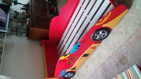 Wooden boys racecar bed-twin in Vista, California