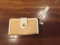 Coach Straw & White Leather Wristlet - NEW! in Glendale Heights, Illinois