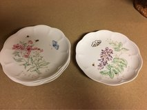 "Lenox Butterfly Meadow 9"" Accent Plates - Set of 5 - NEW in Aurora, Illinois"