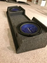 "12"" Pioneer Subwoofer Speakers with truck box in Fort Gordon, Georgia"