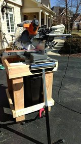 "12"" sliding compound miter saw with accessories in Chicago, Illinois"