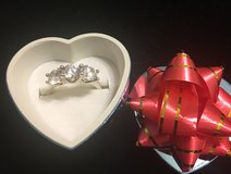 New* Sterling Silver 3-CZ Stone Ring in Pearland, Texas