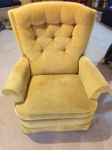 Yellow Velour Recliner in Aurora, Illinois