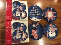 Christmas Dessert Plates Set Studio Nova/Mikasa Country Holiday in Aurora, Illinois