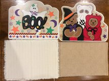 Placemats Set of 4 Each: Ivory, Tan, Halloween in Chicago, Illinois