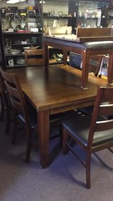 9 piece dining room set  Table 6 chairs  bench leaf big in 29 Palms, California