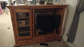 Large Solid Wood Entertainment Center in Fort Belvoir, Virginia